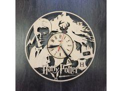 Часы деревянные интерьерные 7rts Гарри Поттер в школе Чародейства CL-0027