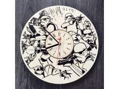 Настенные часы ручной работы из дерева 7Arts Имперские штурмовики CL-0125