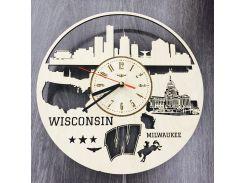 Интерьерные часы на стену 7Arts Милуоки, Висконсин CL-0108