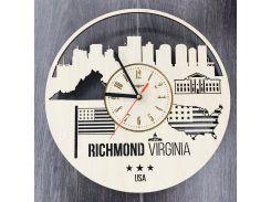 Интерьерные часы на стену 7Arts Ричмонд, Вирджиния CL-0109
