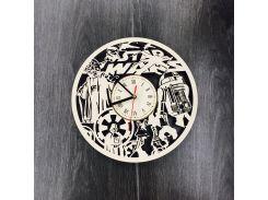 Часы настенные большие из березы 7Arts Планета Звездных Войн CL-0060