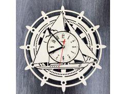 Деревянные настенные часы 7Arts Штурвал CL-0101