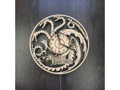 Часы настенные большие оригинальные для гостиной 7Arts Игра Престолов CL-0046