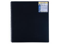 Тетрадь на пружине Buromax Classic, А4, 80 л, клетка, пласт. обложка, черный (BM.2446-001)