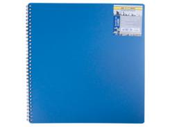 Тетрадь на пружине Buromax Classic, А4, 80 л, клетка, пласт. обложка, синий (BM.2446-002)