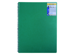 Тетрадь на пружине Buromax Classic, А4, 80 л, клетка, пласт. обложка, зеленый (BM.2446-004)
