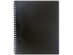 Тетрадь на пружине Buromax Classic, B5, 80 л, пласт. обл, клетка, черный (BM.2419-001)