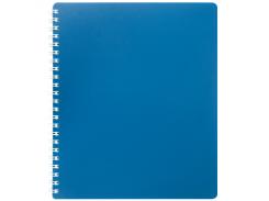 Тетрадь на пружине Buromax Classic, B5, 80 л, пласт. обл, клетка, синий (BM.2419-002)