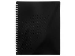 Тетрадь на пружине Buromax Nero, B5, 96 л, клетка, пласт. обложка, черный (BM.2463-01)