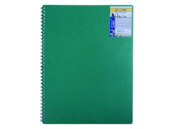 Книга для записей на пружине Buromax Classic, А6, 80 л, клетка, пласт. обложка, зеленый (BM.2589-004)
