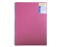 Книга для записей на пружине Buromax Classic, А6, 80 л, клетка, пласт. обложка, красный (BM.2589-005)