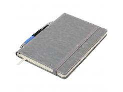 Блокнот деловой Buromax Code, А5, 96 стр., серый, линия (BM.295206-09)