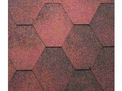 Битумная черепица KATEPAL Jazzy, красный, 3 м.кв./упаковка