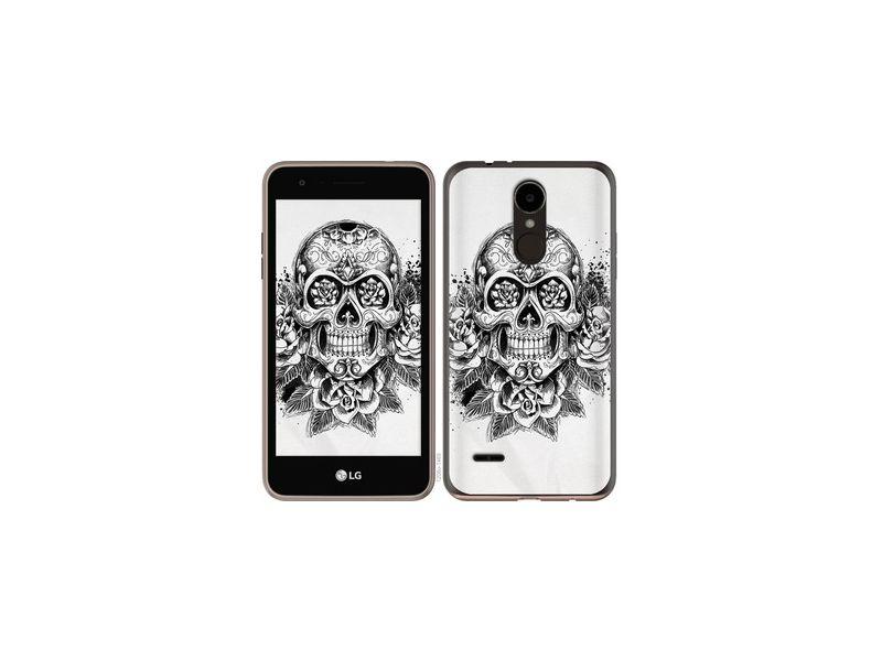 Чехол на LG K7 2017 X230 Череп и розы
