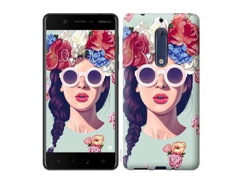 "Чехол на Nokia 5 Девушка с цветами ""2812c-804"" Одесса"