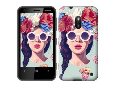 """Чехол на Nokia Lumia 620 Девушка с цветами """"2812u-249"""" Одесса"""