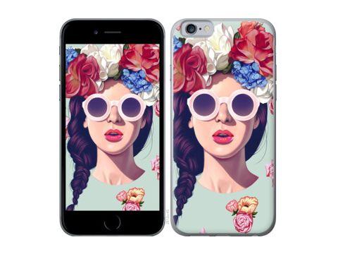"Чехол на Nokia Asha 501 Девушка с цветами ""2812u-209"" Одесса"