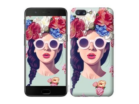 "Чехол на OnePlus 5 Девушка с цветами ""2812u-969"" Одесса"