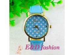 Элегантные женские часы Geneva модный горох