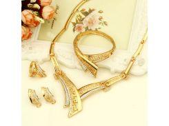 Набор бижутерии MINHIN колье, серьги, кольцо, браслет