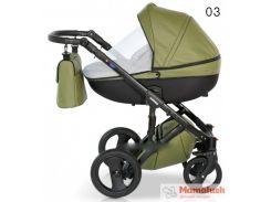 Детская коляска кожаная 2 в 1 VERDI MIRAGE  Green 03