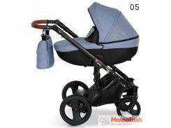 Детская коляска кожаная 2 в 1 VERDI MIRAGE  Blue 05