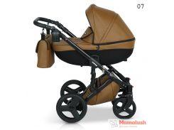 Детская коляска кожаная 2 в 1 VERDI MIRAGE  Brown 07