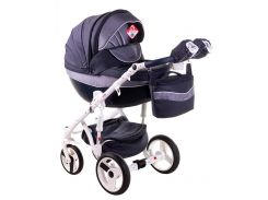 Детская коляска Adamex Monte Deluxe Carbon 2 в 1 D24