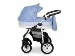 Деткая коляска 2 в 1 Верди Лазер 04 голубая
