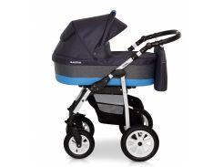 Деткая коляска 2 в 1 Верди Лазер 08 графит/голубой