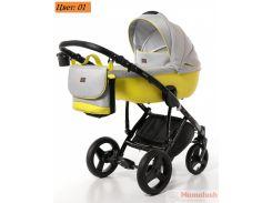 Детская коляска 2 в 1 Broco Porto 01 желтый