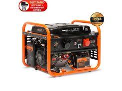Бензиновый генератор Daewoo GDA 7500DPE-3 + бесплатно доставка, наложенный платеж и 2л масла
