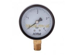 Манометр Icma №282 для газа мембранный 63мм, нижнее подключение