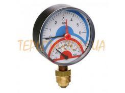 Термоанометр ICMA 10 bar диаметр 80 мм подключение радиальное 1)2 дюйма