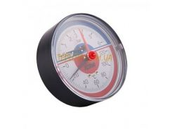 Термоанометр ICMA 10 bar диаметр 80 мм подключение аксиальное 1)2 дюйма