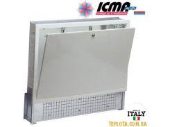 Коллекторный шкаф ICMA (Икма) 1000 мм, с замком для системы «Теплый пол» арт.196 (глубина 90-110 мм).