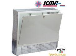 Коллекторный шкаф ICMA (Икма) 1000 мм, с замком для системы «Теплый пол»+радиаторы арт.197 (глубина 110-150 мм).