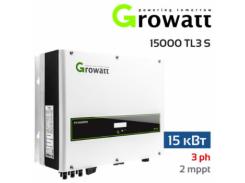 Инвертор напряжения сетевой Growatt 13000 TL3-S (13 кВт, 3-фазный, 2 МРРТ)