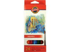 Карандаши акварельные цветные «Рыбки» 24 цв. (2.8мм) KOH-I-NOOR Mondeluz 3718