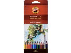 Карандаши акварельные цветные 24 цв. KOH-I-NOOR Mondeluz 3718