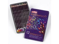 Карандаши набор 12цв. Derwent Coloursoft в мет.кор.D-0701026