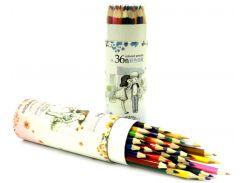 Карандаши цветные 36 цв. AIHAO Sweet secret в картонной тубе AH9020-36