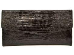 Кошелек кожаный Canpellini 2029-8 Лазер черный