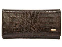 Кошелек кожаный Canpellini 346-11 Кроко коричневый