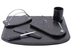 Настольный набор кожзам Optima Cabinet 5 предметов, черный O36475