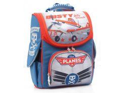 Рюкзак (ранец) школьный каркасный 1 Вересня 552238 Самолетики 2532-1 25*34*12см