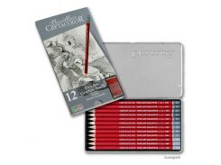 Карандаши простые CRETACOLOR набор 12шт в метал коробке Cleos 16052