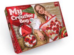 Набор для творчества DankoToys DT MCB-01-01 Сумка вышитая лентами и бисером My Creative Bag