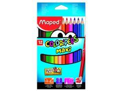 Карандаши цветные 12цв. Maped Color Peps Maxi 834010