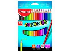 Карандаши цветные 18цв. Maped Color Peps 183218